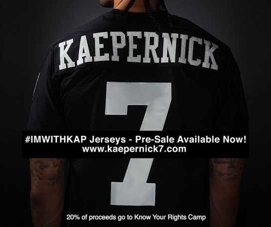 f6699850685 Colin Kaepernick s   ImWithKap  Jerseys Sell Out Just Hours After Going On  Sale